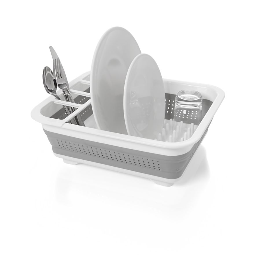 Collapsible Dish Drying Rack Drainer Kitchen Tray Drying