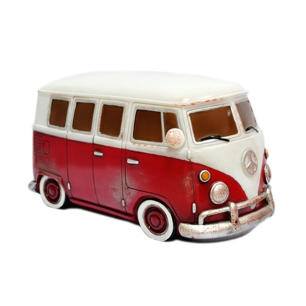 Retro Vw Kombi Table Lamp Red