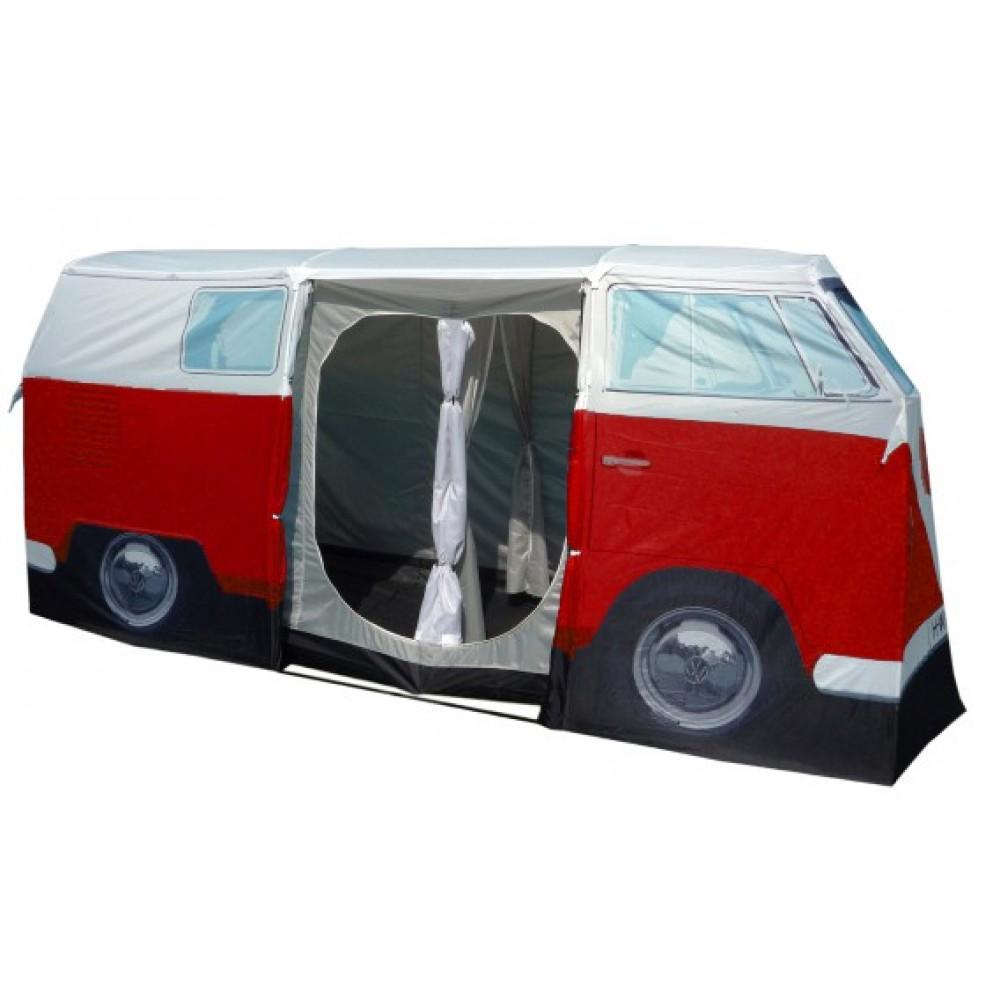 Vw Kombi Tent Camper Van Red