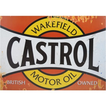 Castrol Red Tin Sign