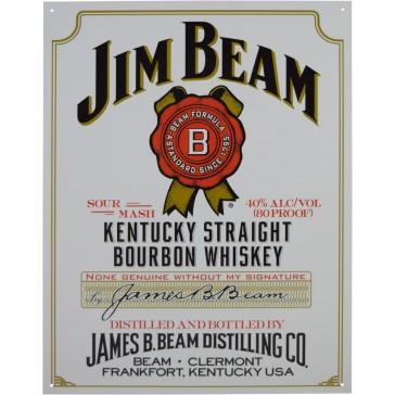 Tin Sign - Jim Beam White Label