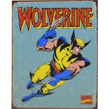 Tin Sign - Wolverine Retro