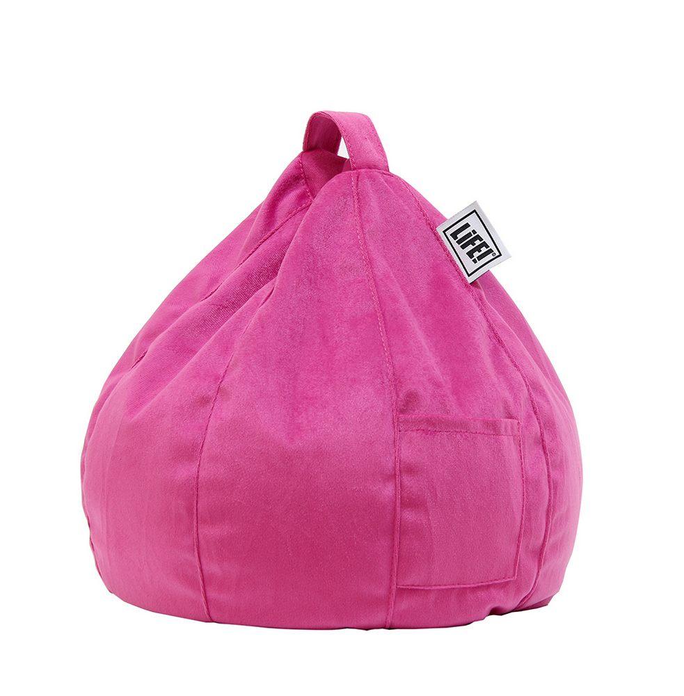 Icrib Tablet Bean Bag Cushion Pink Velour Pillow Stand