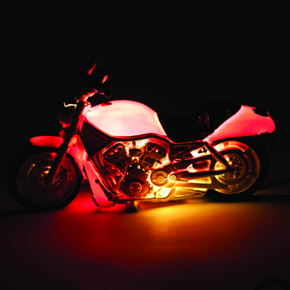 Motorcycle table lamp motorbike bike novelty light for Motorcycle decorations home