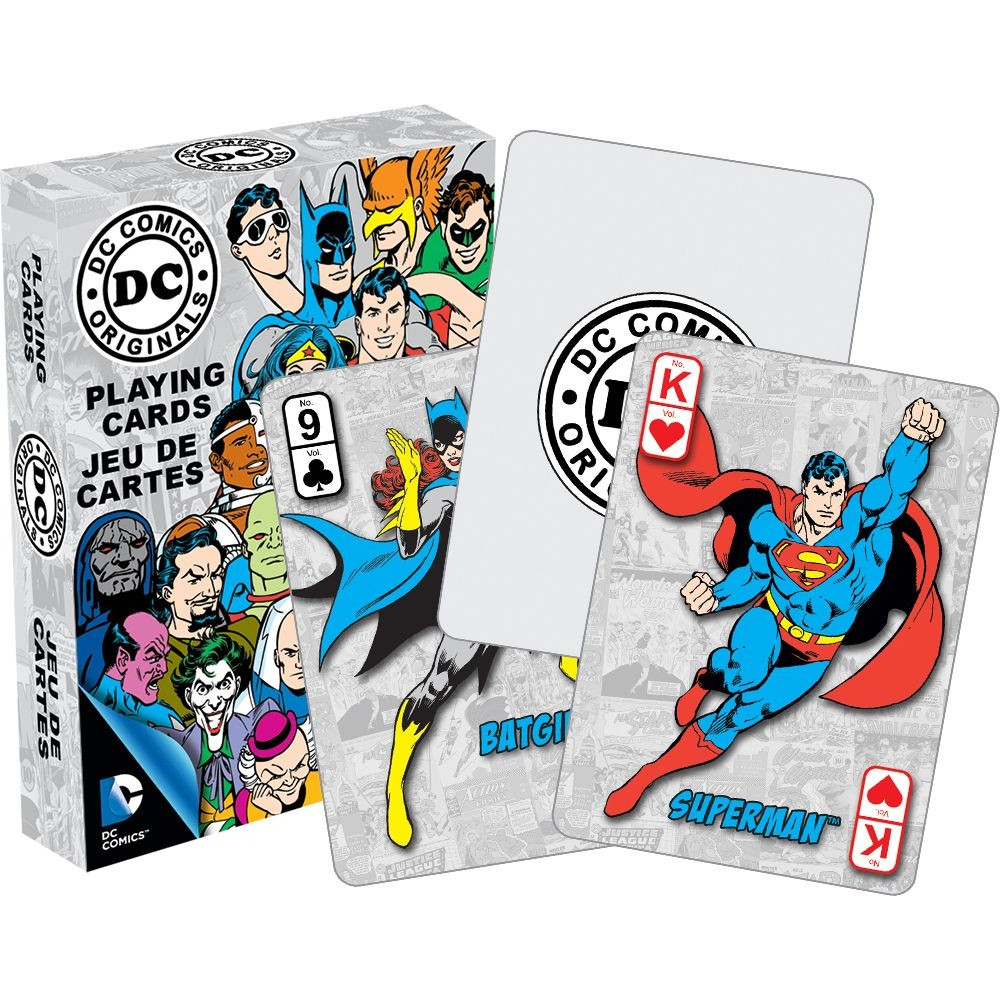 Free Comic Book Day Postcard: DC Comics Retro Characters Playing Cards