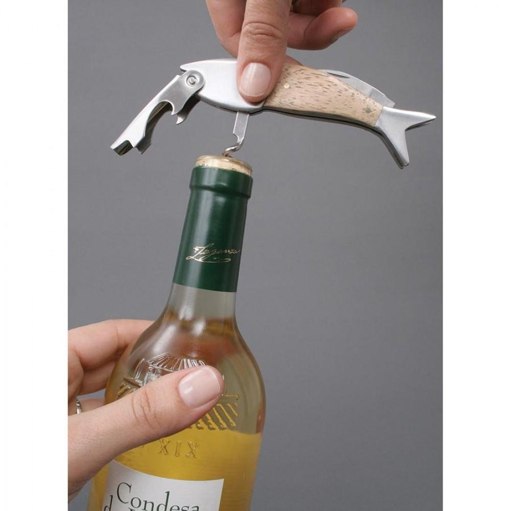 fish corkscrew bottle opener tool. Black Bedroom Furniture Sets. Home Design Ideas