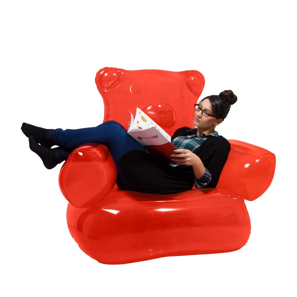 Inflatable Kids Birthday Chair: Inflatable Gummy Bear Chair