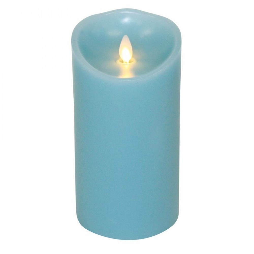 Luminara Candle Flameless Led 3 5 X 7 Quot Blue Ocean Breeze