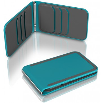 DOSH Wallet Luxe   6 Card - Azure