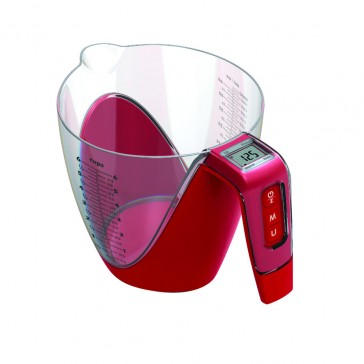 AcuRite Digital Measure Jug & Scales 1G/5KG - Red