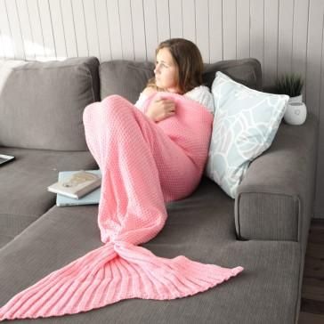 Mermaid Tail Blanket - Adult - Flamingo Pink
