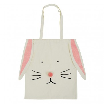 Bunny Large Canvas Tote Bag