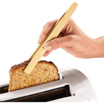 Bamboo Toast Tongs with Magnet 20cm