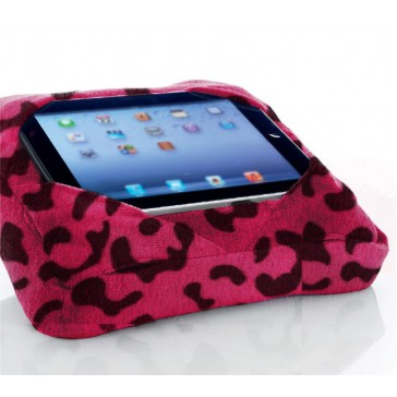 Six-Pad Go-Go Pillow iPad Tablet Cushion Book Rest - Pink Leopard