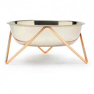 Bendo WOOF Dog Bowl - Copper