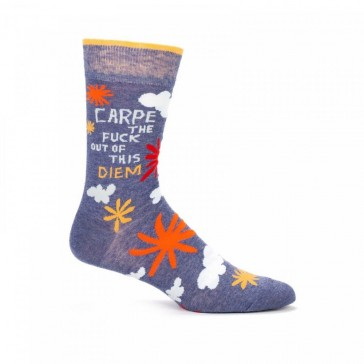 Carpe the Fuck out of This Diem Mens Crew Socks