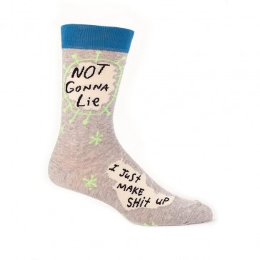 Not Gonna Lie I Make Shit Up Mens Socks