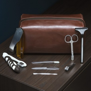 Cavendish Premium Leather Bag + Grooming Kit