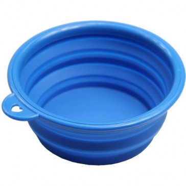 Silicone Collapsible Dog Bowl - Blue
