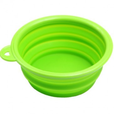 Silicone Collapsible Dog Bowl - Green