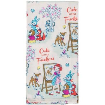 Cute Little Fuckers Tea Towel
