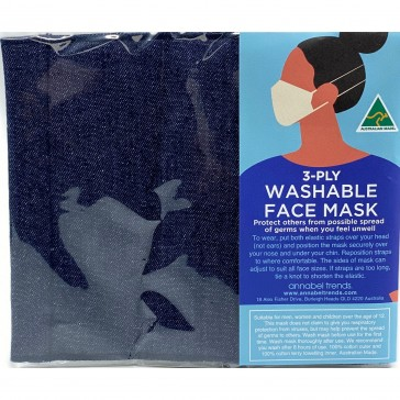 Face Mask - Surgical Style - Denim - Aussie Made