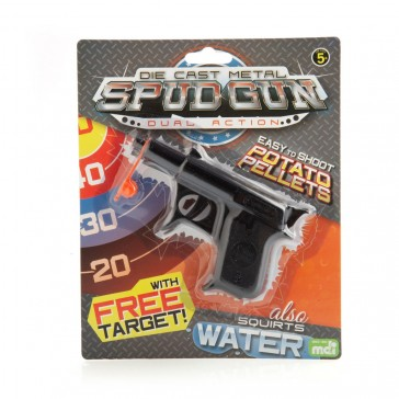 Die Cast Metal Spud Gun Dual Action