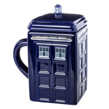 Doctor Who TARDIS Mug with Removable Lid