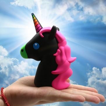Emoji Power Bank Phone Charger - Unicorn - Black