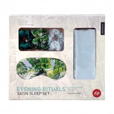 Evening Rituals Satin Pillowcase Sleep Set