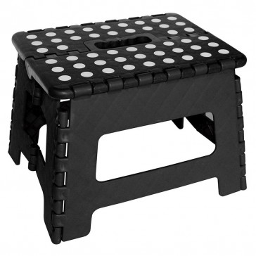 Folding Step Stool Black - White Dots