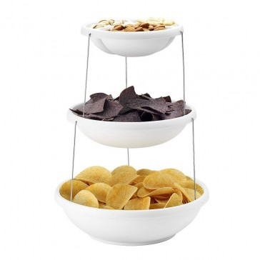 Fozzils Twistfold 2 Tier Party Bowl