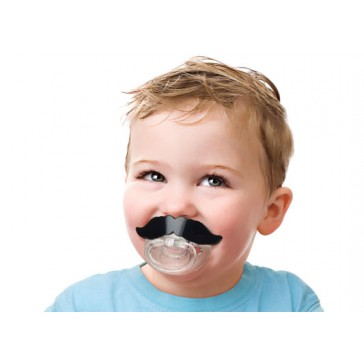 Fred & Friends - Li'l Shaver Moustache Pacifier Dummy - Chill Baby