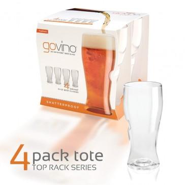 Govino Shatterproof Beer Glasses - Dishwasher Safe - 4 Pack