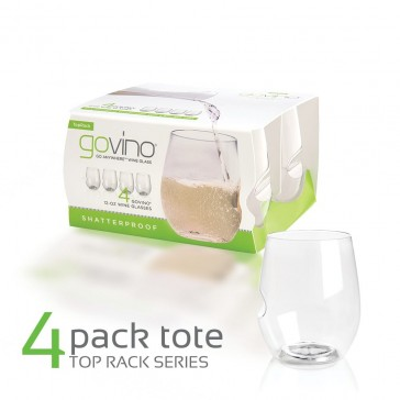 Govino Shatterproof White Wine Glasses - Dishwasher Safe - 4 Pack