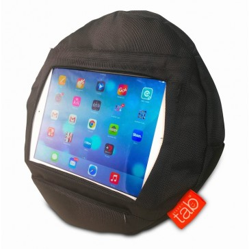 HAPPYtab iPad Cushion Beanbag Pillow by tabCoosh Black Extreme