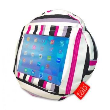 HAPPYtab iPad Cushion Beanbag Pillow by tabCoosh - Cosmo Stripe
