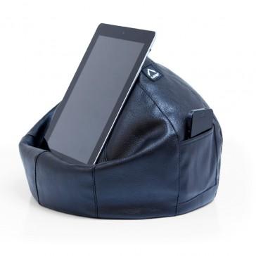 iCrib Tablet Bean Bag Cushion - Black Faux Leather