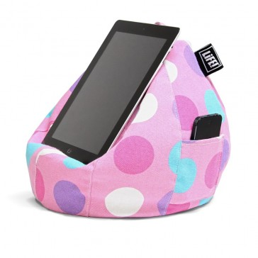 iCrib Tablet Bean Bag Cushion - Pink Spots