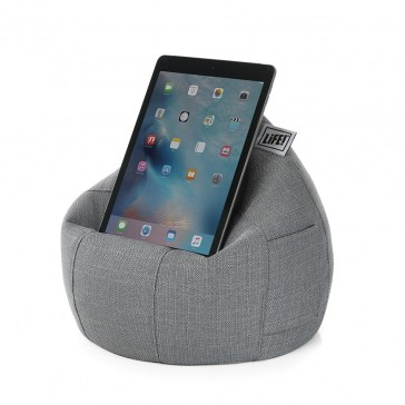 iCrib Tablet Bean Bag Cushion - Linen Look Grey
