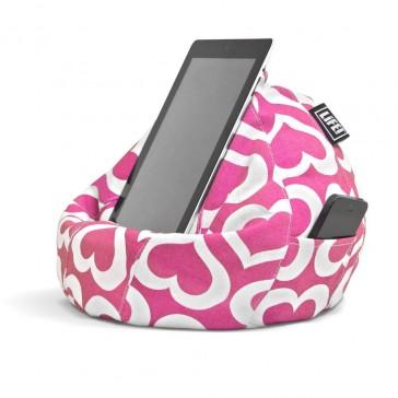 iCrib Tablet Bean Bag Cushion - Pink Hearts