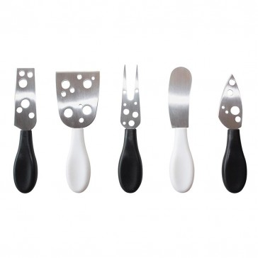 IS Gift Cut to the Cheese Black - Set of 5 knives