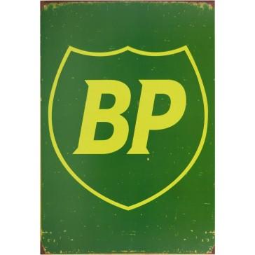 BP Shield Tin Sign