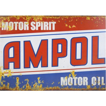 Ampol Motor Spirit Rusted Tin Sign