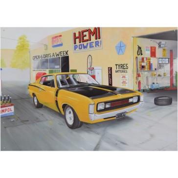 RT Hemi Garage Tin Sign