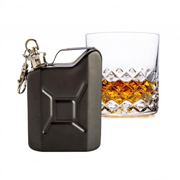 Jerry Can Metal Hip Flask Matte Black