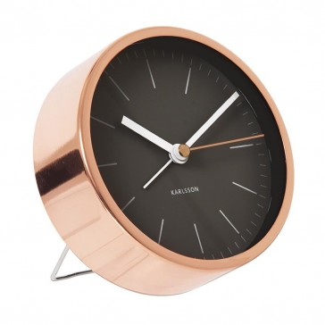 Minimal Alarm Clock Copper - Black