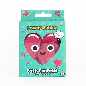Lovely Jubbly Heart Shaped Bath Confetti