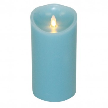 "Luminara Candle Flameless LED - 3.5 x 7"" - Blue Ocean Breeze"