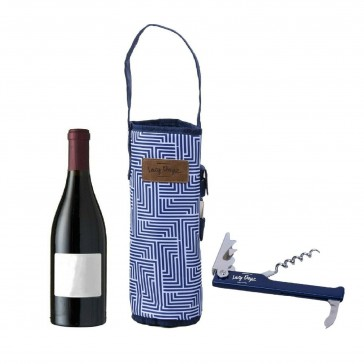 Wine Bottle Bag with Bottle Opener - Makena